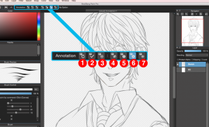 Using Canvas Annotations in MediBang Paint Pro