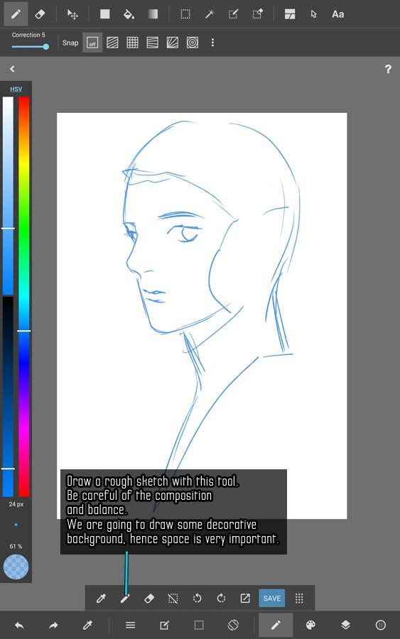 kiDChan's MediBang Paint Android Line Art Tutorial - Part 1