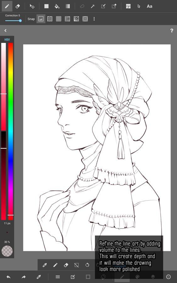 Line Art Tutorial Photo : Kidchan s medibang paint android line art tutorial part