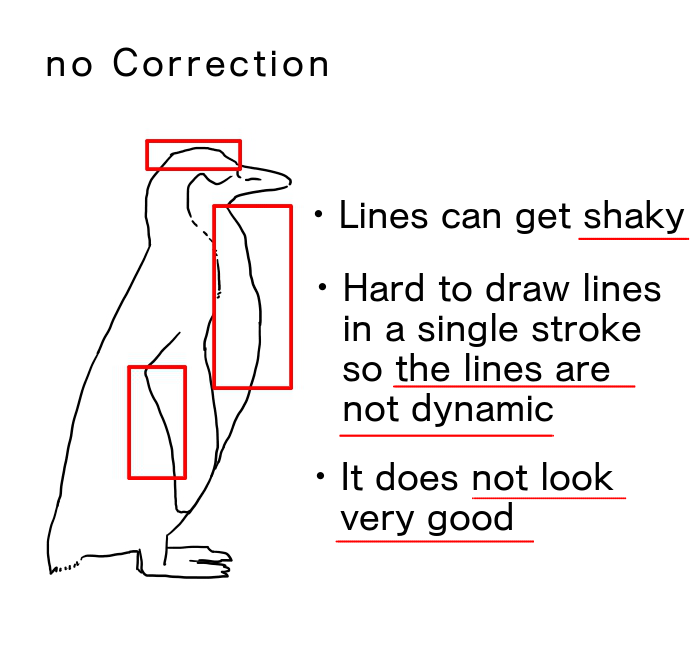 Use Correction to draw beautiful lines!   MediBang Paint