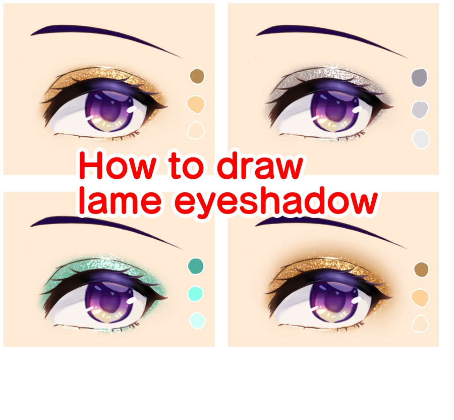 How to draw lame eyeshadow