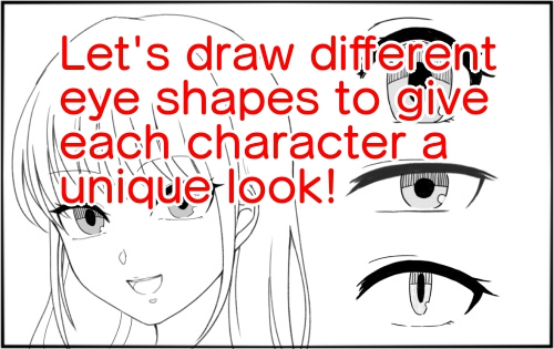 Let's draw different eye shapes to give each character a unique look!