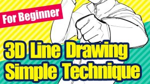 [For beginners] Easy to use! A simple technique to make your line drawings three-dimensional