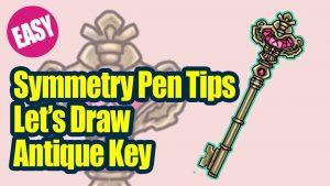 Symmetry Pen Tips! Let's Draw Antique Key