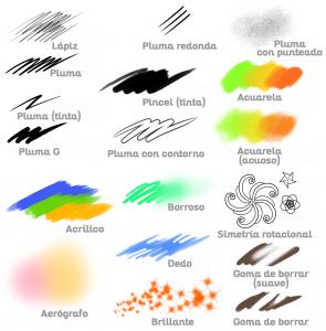 Pinceles predeterminados de MediBang Paint Pro
