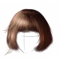 Cómo dibujar el pelo de un personaje femenino, por Ryky