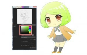 Easily change the color of your line art with 8bit layers