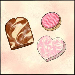 ¡Un San Valentín fácil con un cepillo de dedos! Cómo crear un patrón de mármol en un abrir y cerrar de ojos