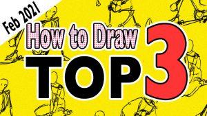 ¡Anunciamos los 3 artículos más populares sobre cómo dibujar en febrero!