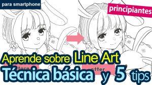 [Para principiantes]  Aprende sobre el line art (1) Técnica básica de dibujo + 5 tips [para smartphone]