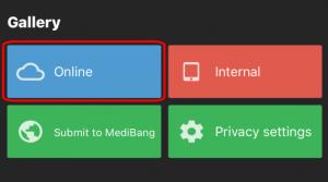 【iPhone】Abrindo imagens salvas no MediBang Paint