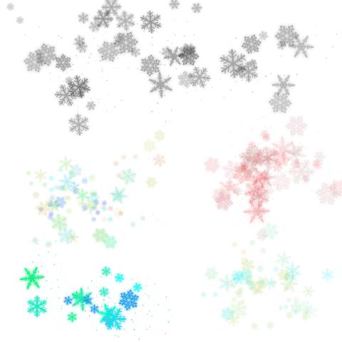 Снежинки 4