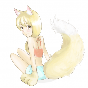 Let's draw fluffy tails and ears!