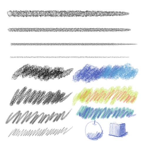 鉛筆(ざらざら)2