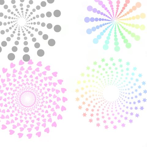 彩虹色回旋笔刷