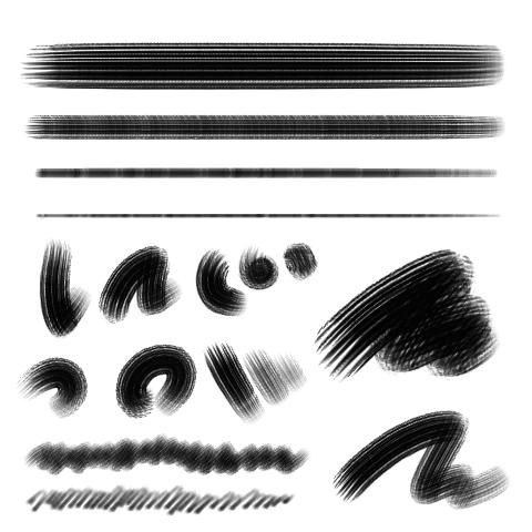 水彩平笔(干)
