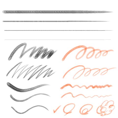 细毛笔(淡水墨)
