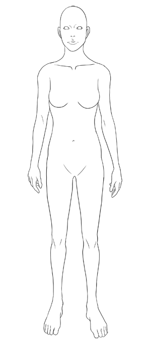 템플릿 선화(여성1)
