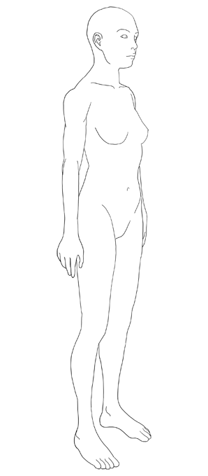 템플릿 선화(여성8)