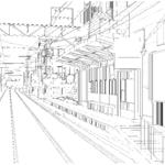 【ART street素材サンプル】路面電車(京都)