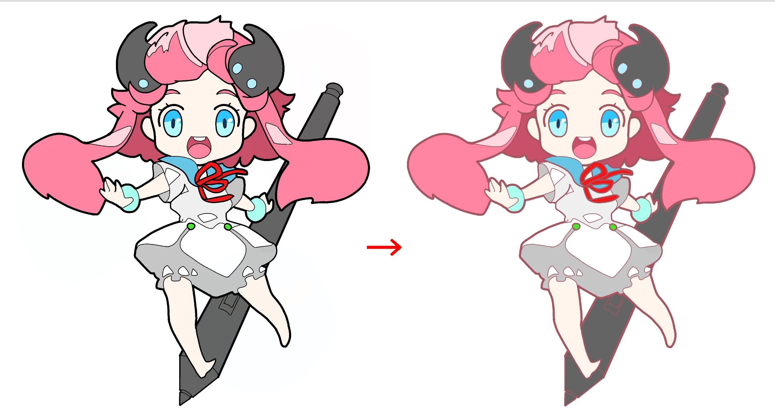 Changing the color of a line drawing