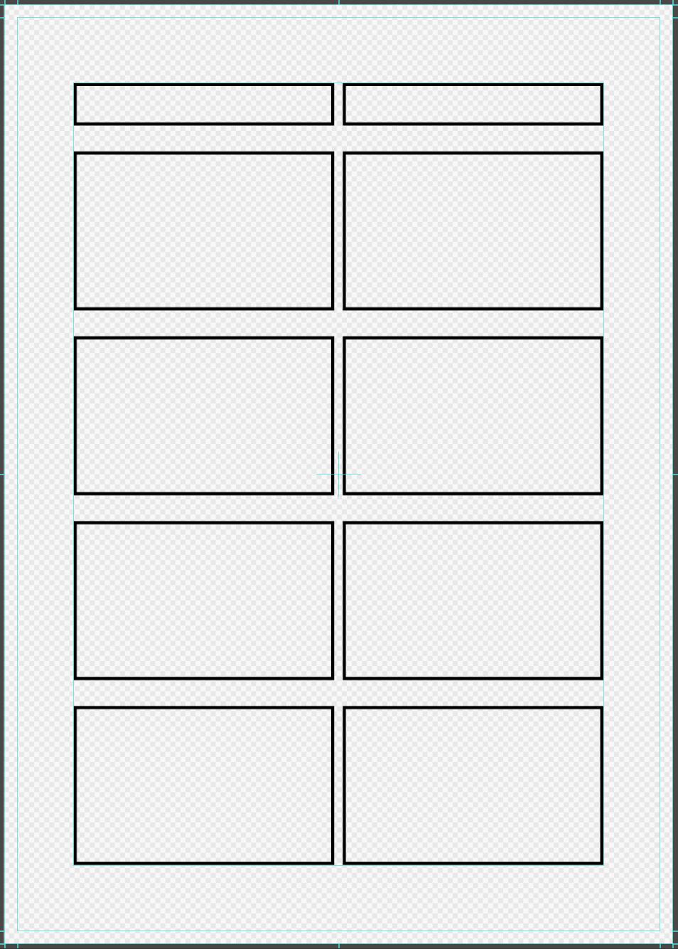Panel divide for 4-frame cartoon
