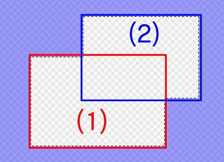 選択範囲に対してShiftを押しながら(2)の選択範囲を作ったとき