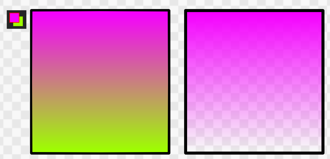 Difference in gradation type