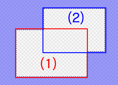 When selecting the selection range of (2) while pressing Shift for the selection range of (1)