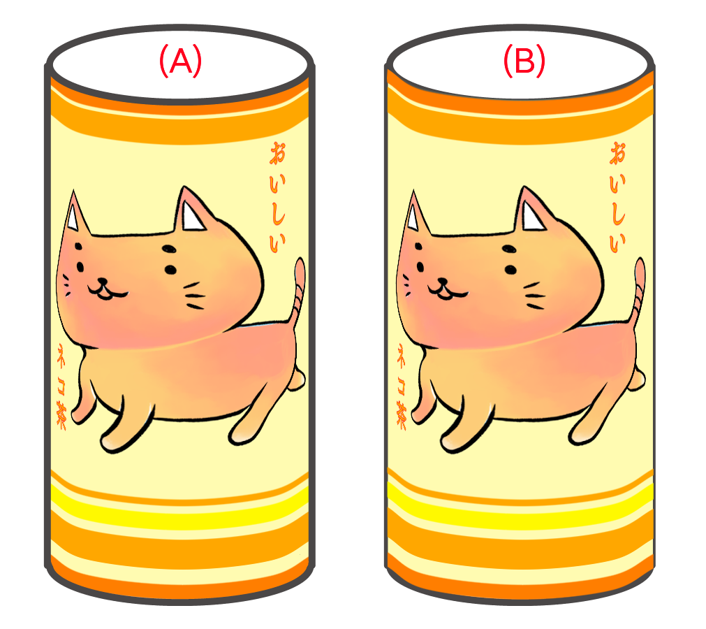 (A)Line drawing is above / (B)Line drawing down