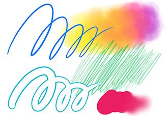 多彩なブラシ