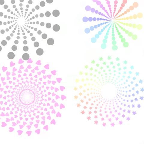 虹色回転対称