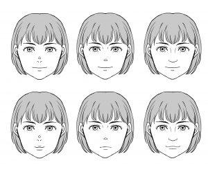 顔の描き方(キャラの描きわけ編)