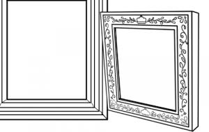 図形ブラシツールと線対称ブラシを使って額縁を描いてみよう!