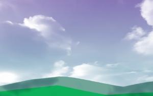スクリーンレイヤーで青空に雲を合成しよう!