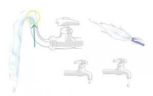 動く水を描きたい!【水しぶきや流れ出る水など】