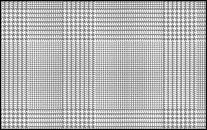 自分で作る千鳥格子グレンチェックの描き方