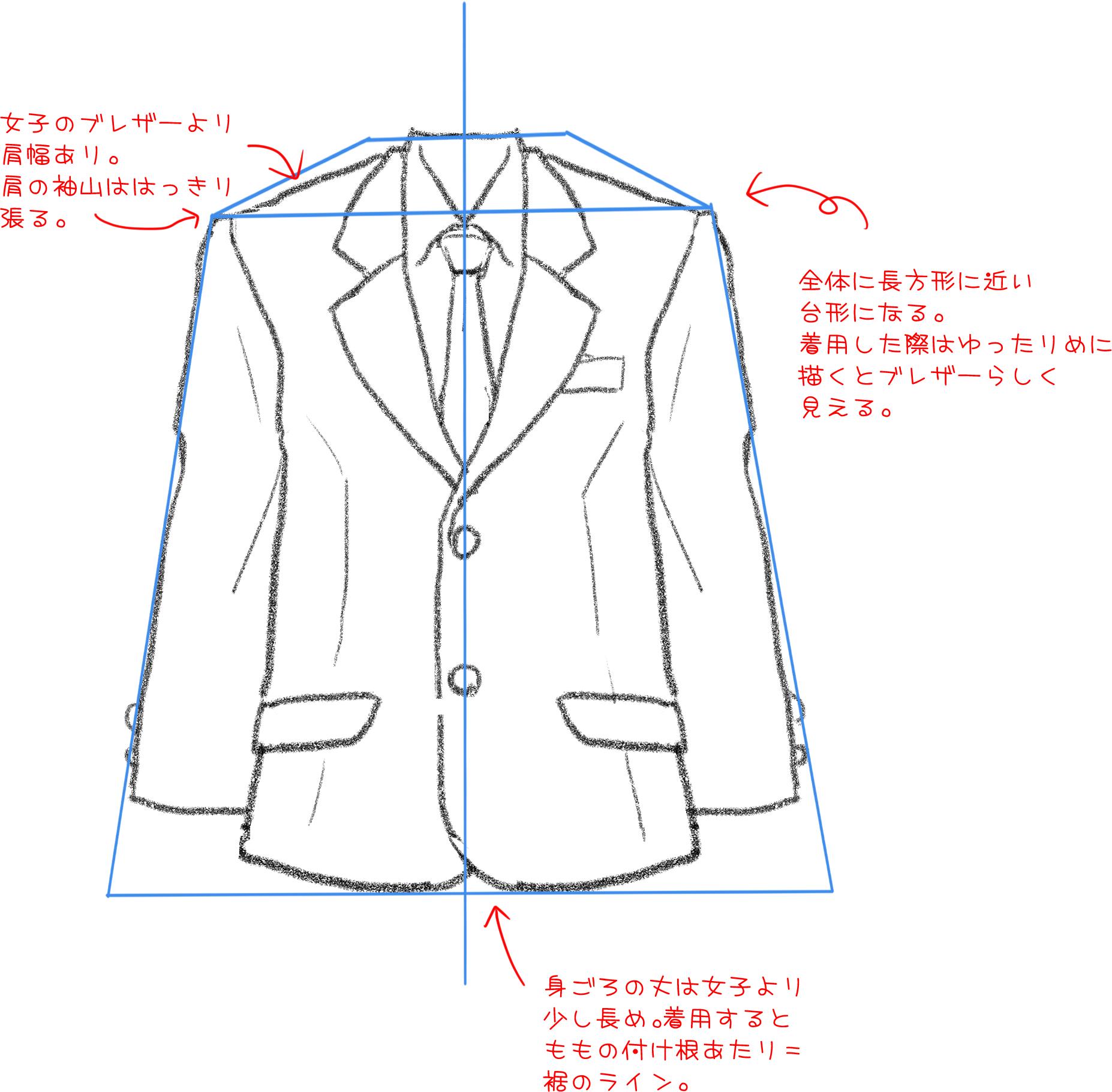 男子編 制服の描き方 いろいろな制服を描いてみよう メディバンペイント Medibang Paint