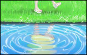 水面の表現と映り込みを描こう!