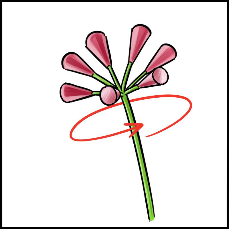 ふちペンで簡単 彼岸花を描こう メディバンペイント Medibang Paint