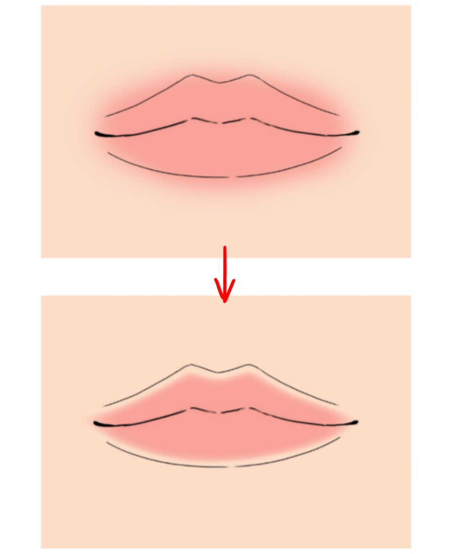 Personality thick lips Chinese Mouth