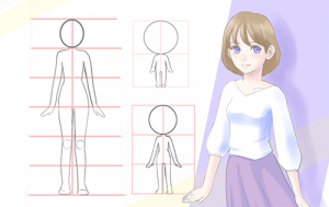 Try using the split brush to draw characters of different head lengths