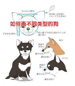 如何画不同类型的狗