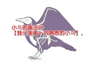 小鸟的画法①【我们来画一只熟悉的小鸟】。