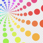 彩虹色旋轉筆刷
