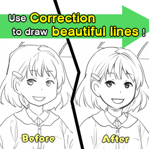 Use Correction to draw beautiful lines!